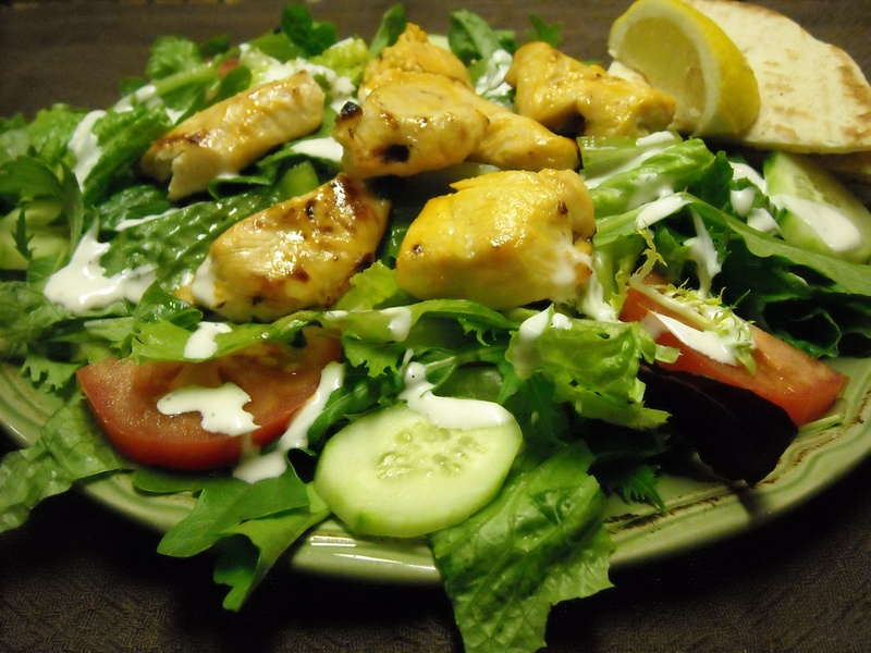 Chicken Kabob Salad